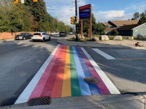 Rainbow Crosswalk Squamish