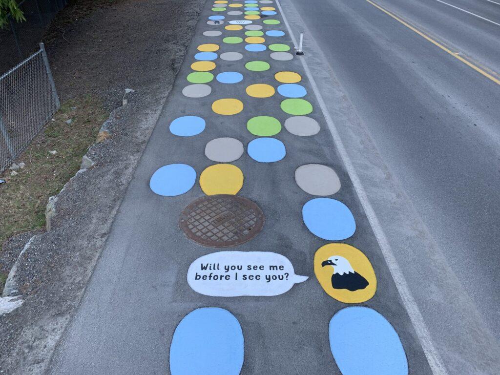 Bowen Island stamped asphalt walkway