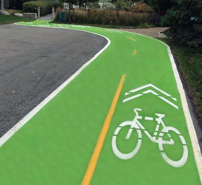 PreMark Green Bike Lane North Vancouver SQUARE