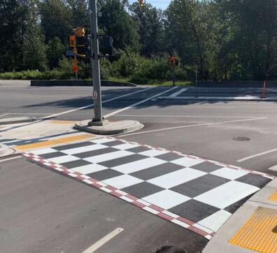 TrafficPatterns - Decorative Asphalt Crosswalk